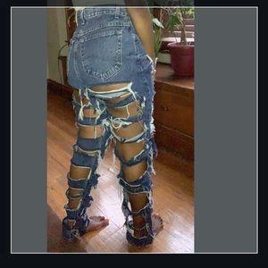 Vintage Lee Distressed Jeans